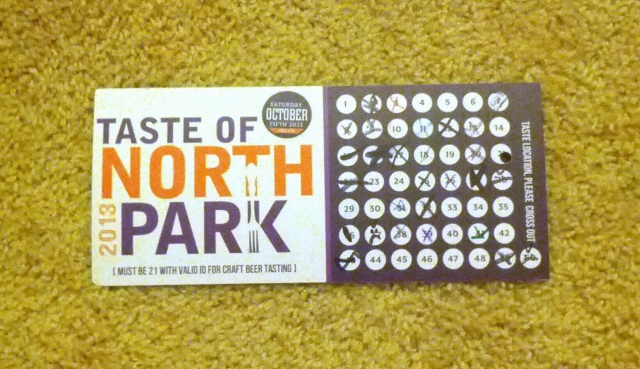 taste of north park 2013_final card